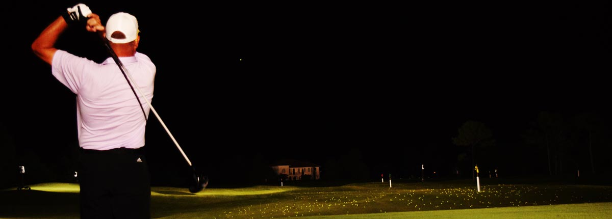 golf player led lighting night